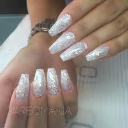simple yet gorgeous glitter long coffin nails reqmaria