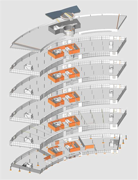 exploded floor plan lexhold technology center building a on behance