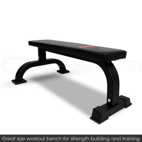 bench press strength training fitness flat weight bench press gym strength training home workout exercise aud 79
