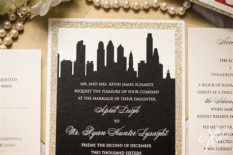 City Themed Wedding Invitations by April S Philadelphia Themed Wedding Invitation