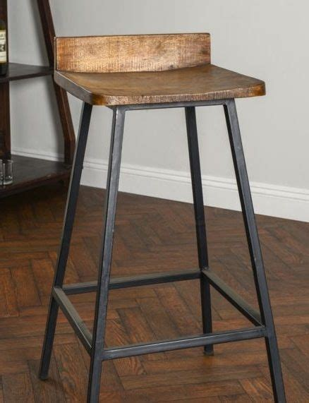 Square Metal Bar Stools by Square Wooden Seat Bar Stool High Chair Kitchen Counter