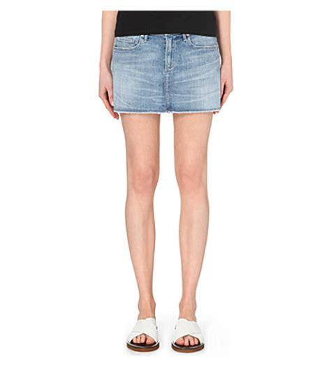 citizens of humanity denim mini skirt selfridges