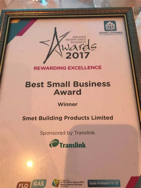 best small business in newry we won smet