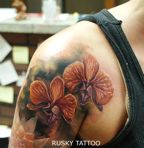 tatouage de magnifique orchid 233 e inkage