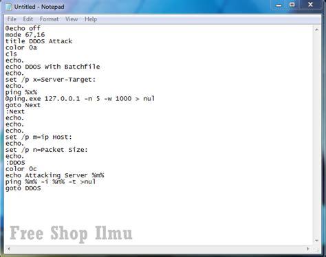 membuat html notepad cara membuat tool ddos sederhana dari notepad free shop ilmu
