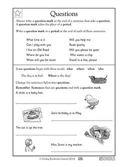 free printable question mark worksheets 1st grade kindergarten reading writing worksheets