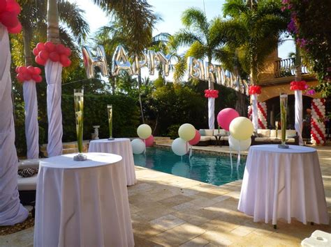 backyard birthday ideas dreamark events blog swimming pool party decoration with