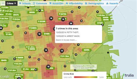 san jose crime map trulia 4 maps to help your home search trulia
