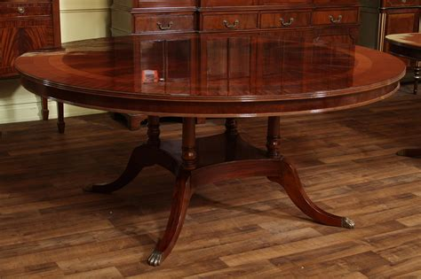 dining room tables round 72 quot high end round mahogany dining table with duncan phyfe