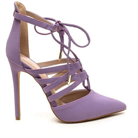 lace pumps shop for lace pumps on polyvore make an impression lace up heels lavender 38 liked on