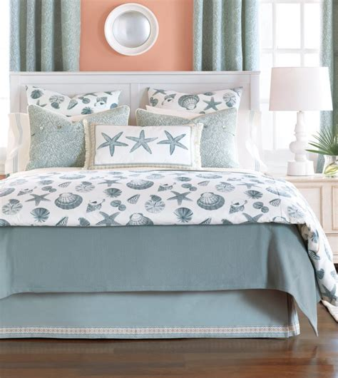 Light Grey Bedding Set Bedroom Light Grey Coastal Bedding Collections With Fish And Shell Pattern On Size