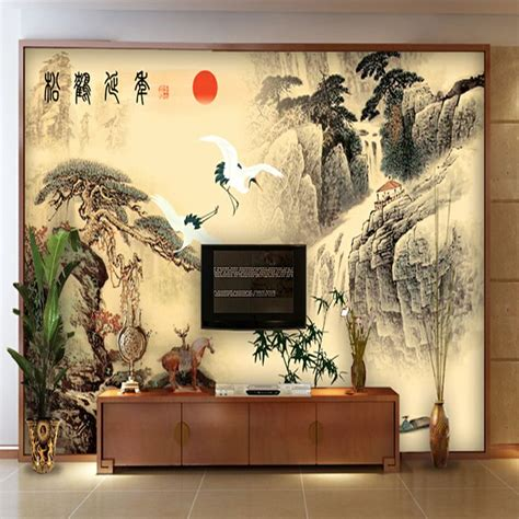 Asian Wall asian wall murals vintage wallpaper mural wallpaper tv