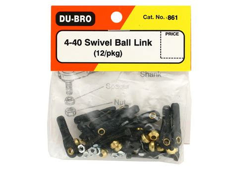 Dub156 Nose Gear Block Set By Dubro dubro 4 40 swivel links 12 dub861 airplanes amain hobbies