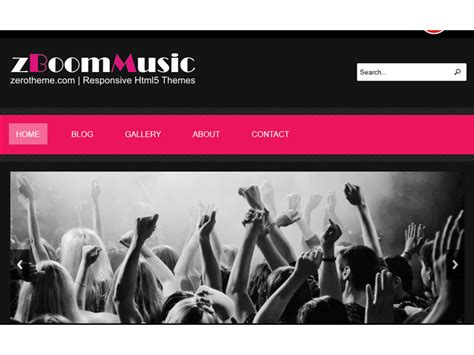 Free Responsive Templates Html5 by Zboommusic Responsive Free Html5 Template