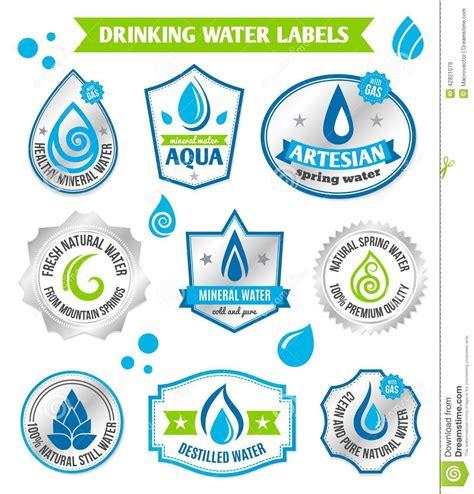 water label design vector set of water drops label stock vector image 42921079