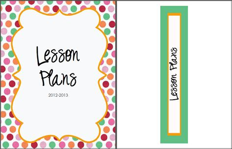 printable lesson plan binder cover lesson plan math new calendar template site