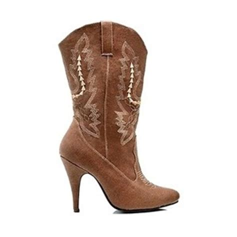 s high heel brown cowboy boots ellie boot