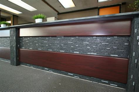 Tiled Reception Desk by Laminate Mosaic Tile Reception Desk Commercial