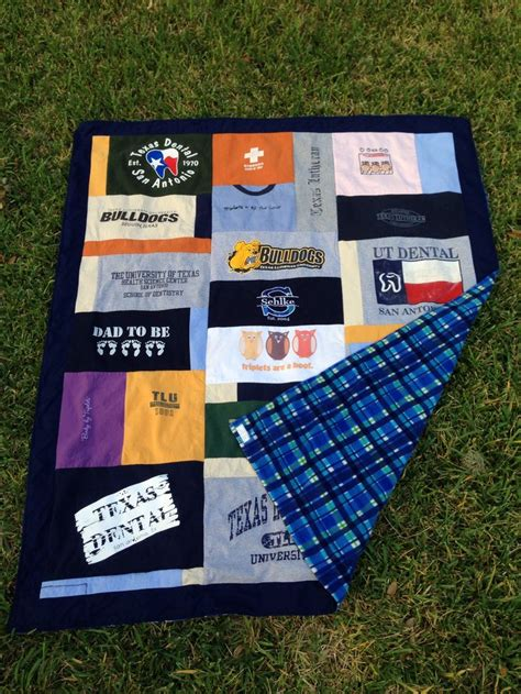 T Shirt Quilt Fleece Backing family t shirt quilt with fleece back family name