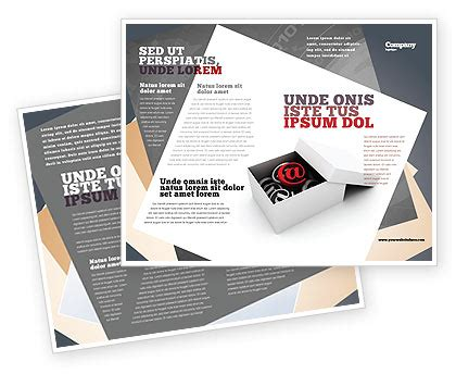 email brochure template email shipping brochure template design and layout