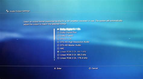 audio format on ps4 how to make the audio settings on your playstation 3