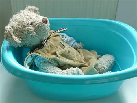 family fecs montessori activity bathing baby teddy bear