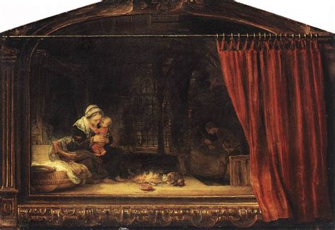 painting curtains file rembrandt the holy family with a curtain 1646