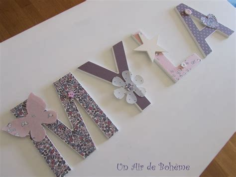 Lettre Prenom Deco Chambre 5362 by Les 25 Meilleures Id 233 Es Concernant Lettres En Bois
