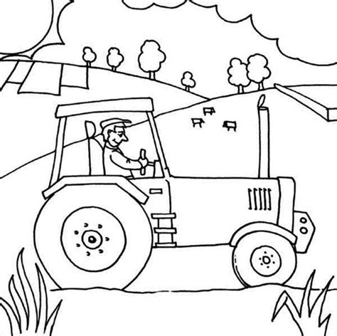 Farm Tractor Coloring Pages Sketch Coloring Page Farm Tractor Coloring Pages