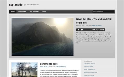 custom layout in wordpress esplanade free wordpress theme one designs