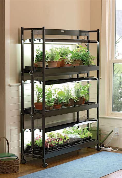 indoor plant stand with grow light grow light stand 3 tier sunlite garden t 5 bulbs