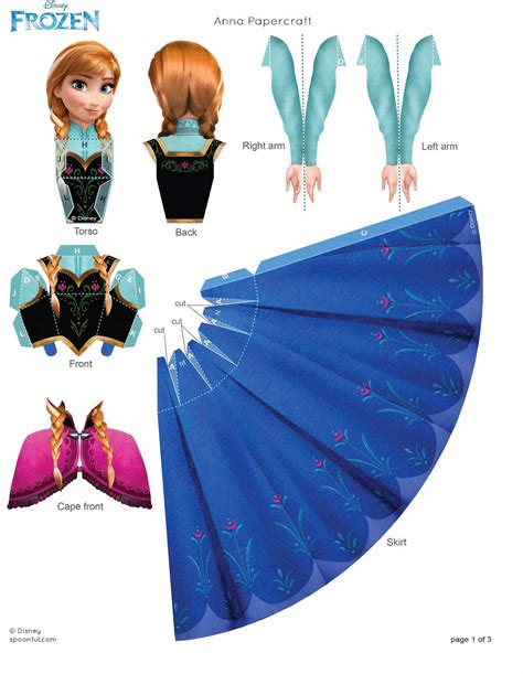 Free Printable 3d Paper Crafts - frozen free printable 3d paper dolls is it for