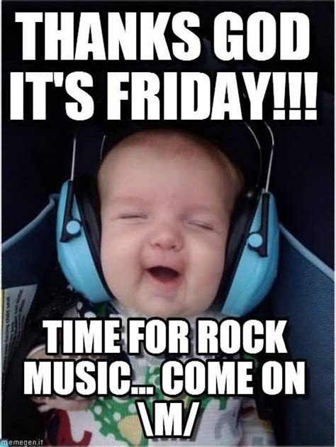 Rock Music Memes - 50 famous friday memes for workers golfian com