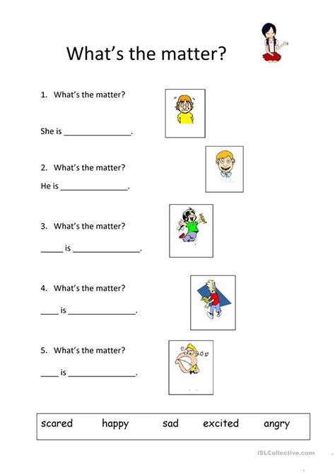 What Is Matter Worksheet by What S The Matter Worksheet Free Esl Printable