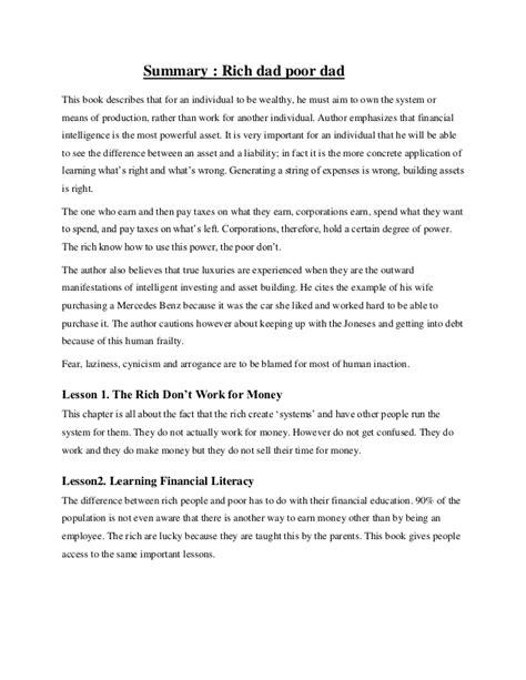 rich poor book report essay rich poor essay rich poor essay rich