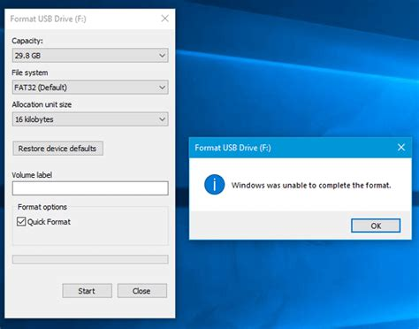 exfat format windows was unable to complete windows was unable to complete the format sd card usb