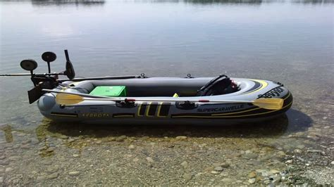 sevylor caravelle 5 person inflatable boat sevylor inflatable caravelle 3 person boat kit youtube