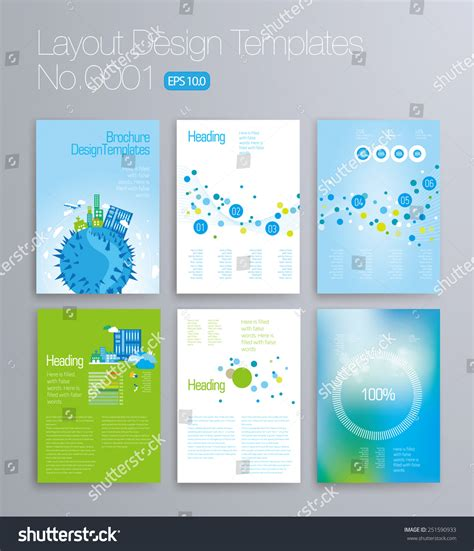 6 page brochure template six pages vector brochure booklet layout design template