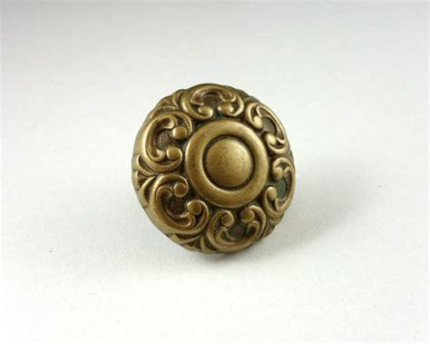 1 solid brass drawer knobs flower door by hooksandhardware