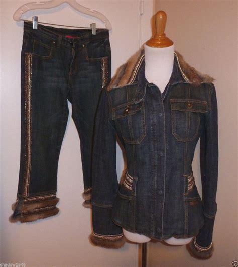 matching denim jacket nwot angelo marani embellished denim jean jacket size 10