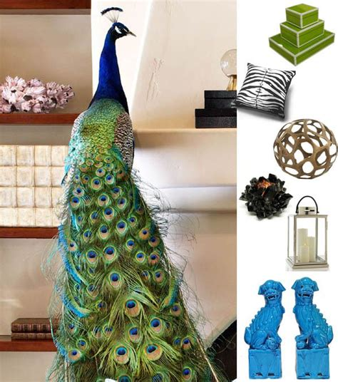 decorating peacock color swatches for the home