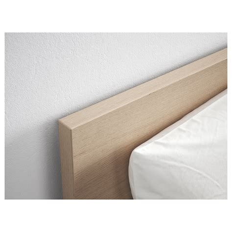 malm bed frame high white stained oak veneer standard