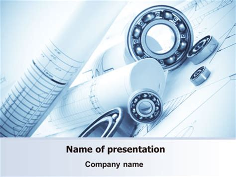 Mechanical Sketch PowerPoint Template, Backgrounds   07729