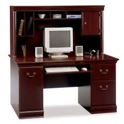 Executive Computer Desk Bush Wc26620 03k Birmingham Executive Computer Desk And Hutch Ships Free