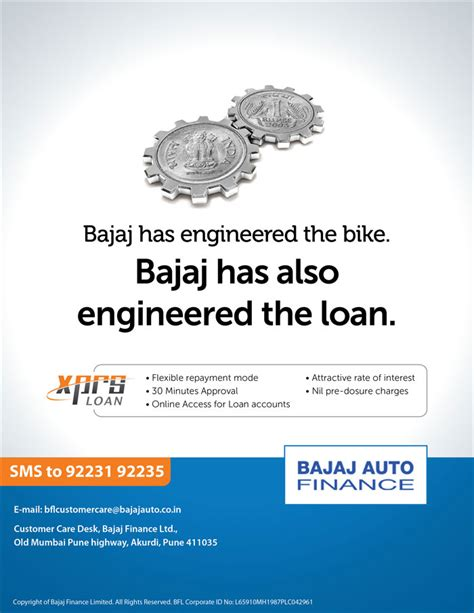 Bajaj Auto Finance Letterhead Water Communications Bajaj Auto Finance