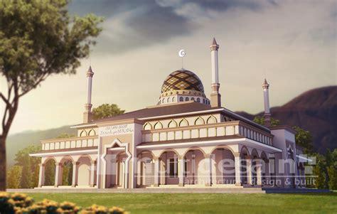 desain kaligrafi masjid desain masjid multidesain arsitek