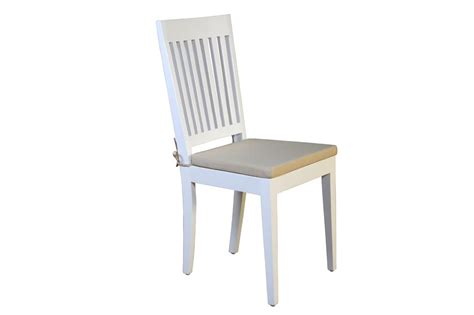 Painted Dining Chair White Painted Solid Wood Dining Chair Halifax