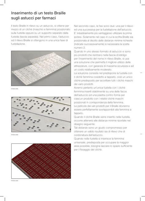 tavola braille braille e goffratura a rilievo linee guida per la
