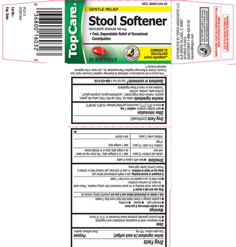 Top Care Stool Softener by Stool Softener Top Care Topco Associates Llc Docusate
