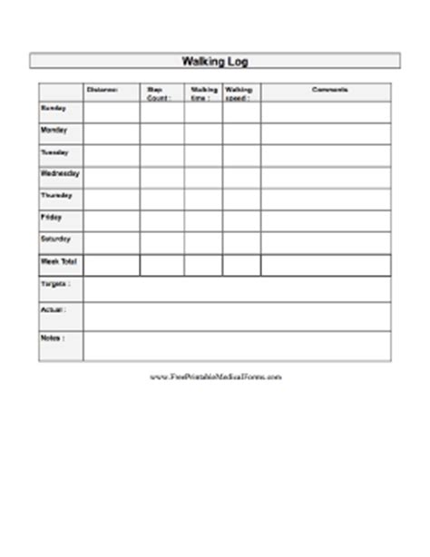 printable walking journal printable walking log